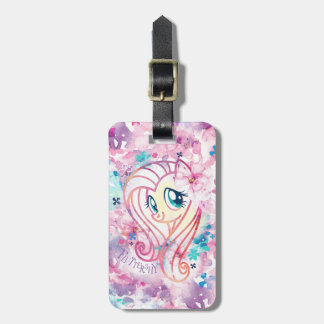 My Little Pony | Fluttershy Floral Watercolor Luggage Tag