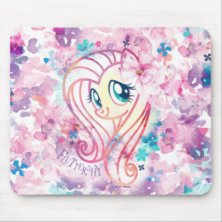 My Little Pony | Fluttershy Floral Watercolor Mouse Pad