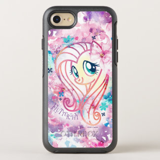 My Little Pony | Fluttershy Floral Watercolor OtterBox Symmetry iPhone 8/7 Case