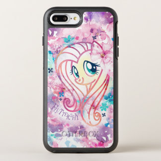 My Little Pony | Fluttershy Floral Watercolor OtterBox Symmetry iPhone 8 Plus/7 Plus Case