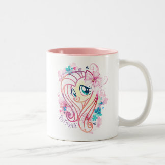 My Little Pony | Fluttershy Floral Watercolor Two-Tone Coffee Mug