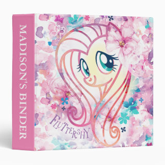 My Little Pony | Fluttershy Floral Watercolor Vinyl Binder