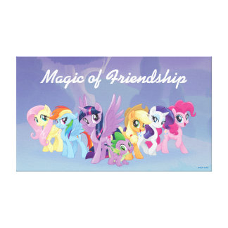 My Little Pony | Mane Six in Equestria Canvas Print