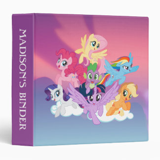 My Little Pony | Mane Six on Clouds 3 Ring Binder