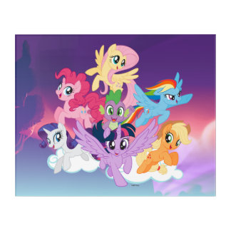 My Little Pony | Mane Six on Clouds Acrylic Print