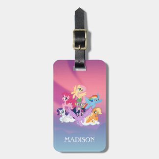 My Little Pony   Mane Six on Clouds Bag Tag