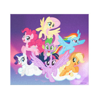 My Little Pony | Mane Six on Clouds Canvas Print
