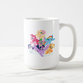 My Little Pony | Mane Six on Clouds Coffee Mug