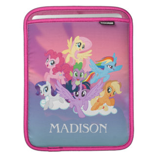 My Little Pony   Mane Six on Clouds iPad Sleeve