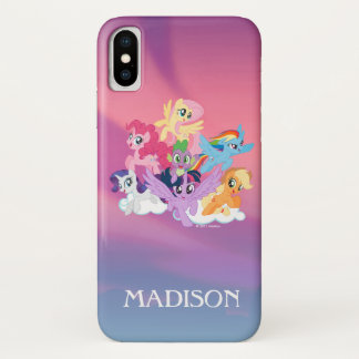 My Little Pony | Mane Six on Clouds iPhone X Case