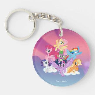 My Little Pony | Mane Six on Clouds Keychain