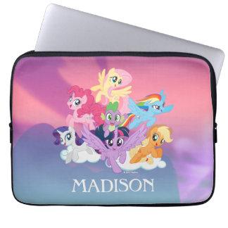 My Little Pony   Mane Six on Clouds Laptop Sleeve