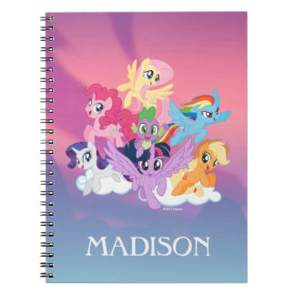 My Little Pony   Mane Six on Clouds Notebook