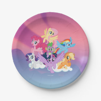 My Little Pony | Mane Six on Clouds Paper Plate