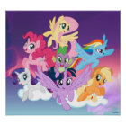 My Little Pony | Mane Six on Clouds Poster