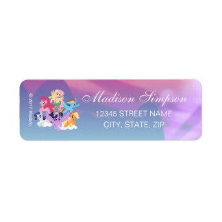 My Little Pony | Mane Six on Clouds Return Address Label