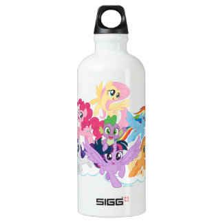 My Little Pony | Mane Six on Clouds Water Bottle
