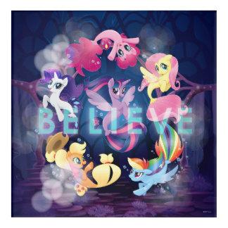 My Little Pony | Mane Six Seaponies - Believe Acrylic Print