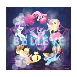 My Little Pony | Mane Six Seaponies - Believe Canvas Print