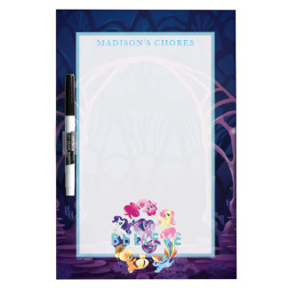 My Little Pony | Mane Six Seaponies - Believe Dry Erase Board