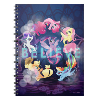 My Little Pony   Mane Six Seaponies - Believe Notebook