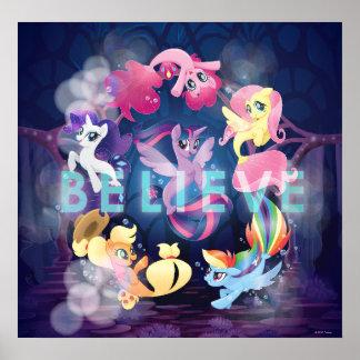My Little Pony | Mane Six Seaponies - Believe Poster
