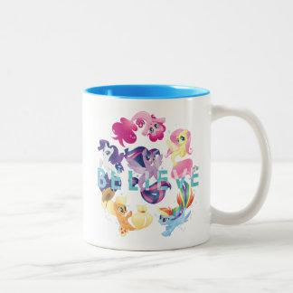 My Little Pony | Mane Six Seaponies - Believe Two-Tone Coffee Mug