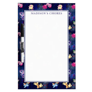 My Little Pony | Mane Six Seapony Pattern Dry Erase Board