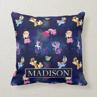 My Little Pony | Mane Six Seapony Pattern Throw Pillow