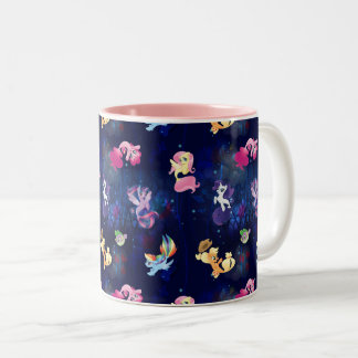 My Little Pony | Mane Six Seapony Pattern Two-Tone Coffee Mug