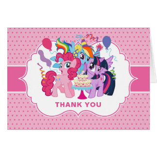 My Little Pony | Pink Birthday Thank You Card