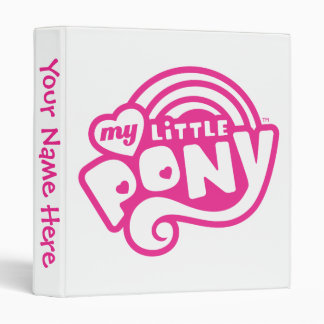 My Little Pony Pink Logo Vinyl Binders