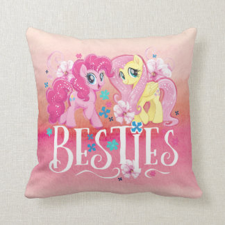 My Little Pony | Pinkie and Fluttershy - Besties Throw Pillow