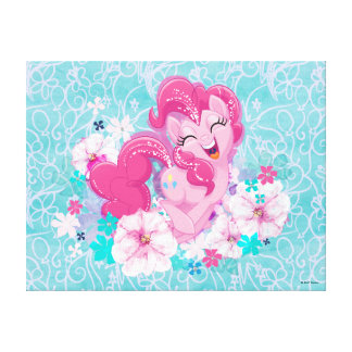 My Little Pony | Pinkie Running Through Flowers Canvas Print