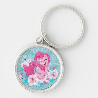 My Little Pony   Pinkie Running Through Flowers Keychain