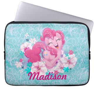 My Little Pony | Pinkie Running Through Flowers Laptop Sleeve