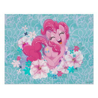 My Little Pony | Pinkie Running Through Flowers Poster