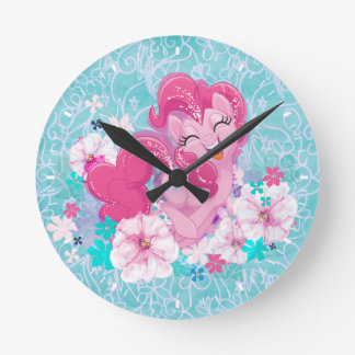 My Little Pony | Pinkie Running Through Flowers Round Clock