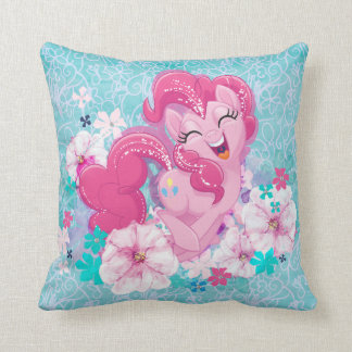 My Little Pony | Pinkie Running Through Flowers Throw Pillow
