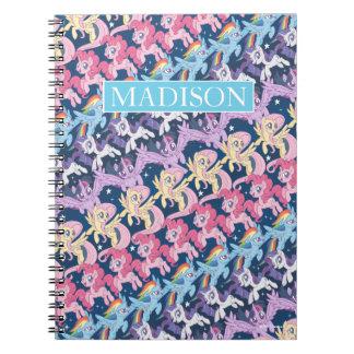 My Little Pony   Pony Rainbow Pattern Notebook