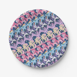 My Little Pony | Pony Rainbow Pattern Paper Plate