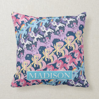 My Little Pony | Pony Rainbow Pattern Throw Pillow