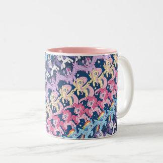 My Little Pony | Pony Rainbow Pattern Two-Tone Coffee Mug