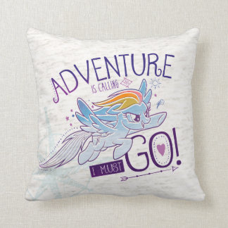 My Little Pony | Rainbow - Adventure Is Calling Throw Pillow