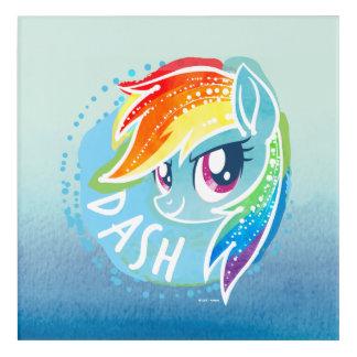 My Little Pony   Rainbow Dash Watercolor Acrylic Print