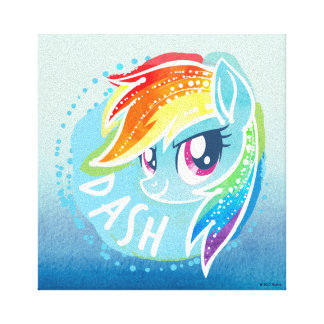 My Little Pony | Rainbow Dash Watercolor Canvas Print