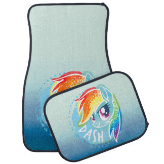 My Little Pony | Rainbow Dash Watercolor Car Mat