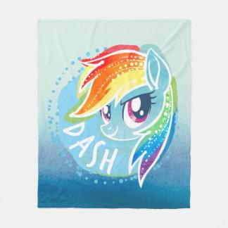 My Little Pony | Rainbow Dash Watercolor Fleece Blanket