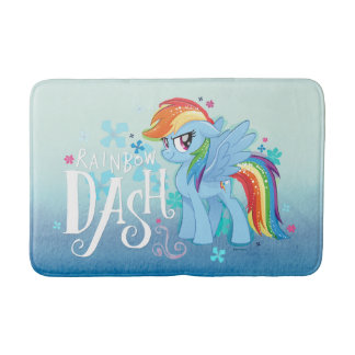 My Little Pony | Rainbow Dash Watercolor Flowers Bath Mat