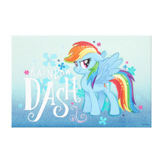My Little Pony | Rainbow Dash Watercolor Flowers Canvas Print